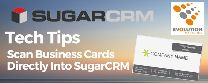 Scan business cards directly into sugarcrm colourmoves